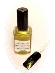 Stamping Special Nail Polish Golden